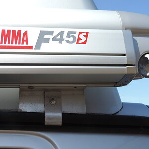 Fiamma F45s on bespoke bracket (rear)